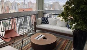 ArboREAL - Lareira Ecológica em Madeira Maciça: Sala de estar  por ArboREAL Móveis
