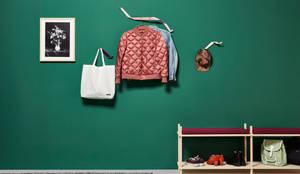 Garderobe aus Metall, Garderobenhaken für jede Wand:  Flur, Diele & Treppenhaus von Neuvonfrisch