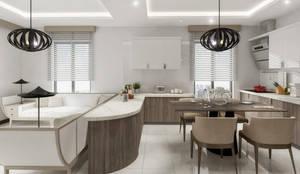 Mimayris Proje ve Yapı Ltd. Şti. – Mutfak Dolaplar:  tarz Mutfak