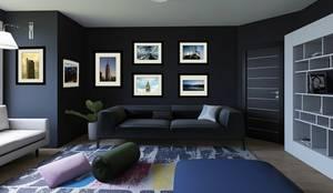 Fotografías en Sala Contemporánea: Sala multimedia de estilo  por FotoShop.Mx