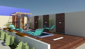 Vista Diagonal do Projeto.: Casa  por TAFS interiores e 3D