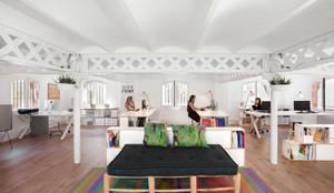 Oficina SmartDeco Comunica en Barcelona: Oficinas y tiendas de estilo  de BrickBox - Estanterías Modulares