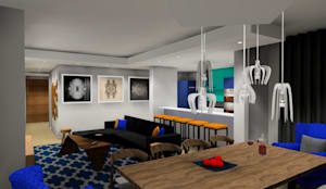 living/dining :  Living room by AB DESIGN