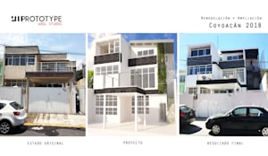 ANTES Y DESPUES FACHADA:  de estilo  por Prototype studio