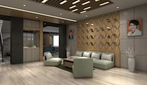Lobby Guest House Bandung:  Living room by Maxx Details