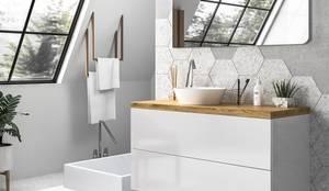 Muebles en combinación de blanco y madera para tu baño: Baños de estilo  de TheBathPoint