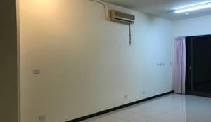 尚未變化前的客廳:   by 台中室內設計裝修|心之所向設計美學工作室