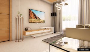 2 BHK FLAT AT BANGALORE:   by Aikaa Designs,
