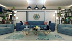 Furniture showroom:  Living room by Maayish Architects
