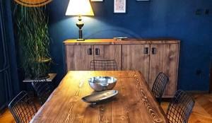 Mozilya Mobilya – Asya Ağaç Masa:  tarz Yemek Odası