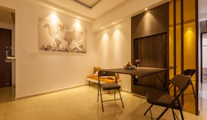 the world map:  Dining room by Sagar Shah Architects