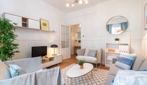 Un salón disfrutón.: Salones de estilo  de Home Staging Bizkaia