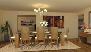 diseño de interiores:  de estilo  por Arqmania