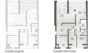 Planos de Reforma Integral de vivienda en Palencia:  de estilo  de Pin Estudio - Arquitectura y Diseño en Palencia