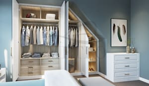 Fitted Wardrobes London:  Bedroom by Metro Wardrobes London,