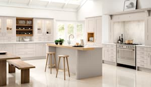 Cartmel Cashmere Fitted Kitchens London:  Kitchen by Metro Wardrobes London,