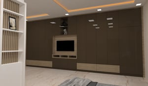3 BHK Interior designing:  Bedroom by Vadhia Interiors Pvt Ltd,