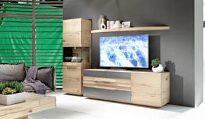 Meuble TV haut de gamme en chêne massif, design allemand:  de style  par Imagine Outlet, Moderne Bois Effet bois