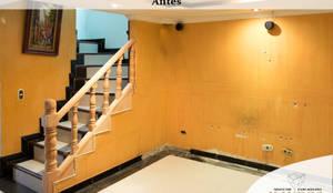EL Estado ANTERIOR: Paredes y suelos de estilo  por KAYROS ARQUITECTURA DISEÑO INTERIOR