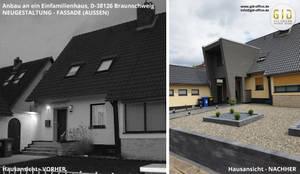 Anbau in Braunschweig, Architektur - Außenansicht:   von GID│GOLDMANN-INTERIOR-DESIGN - Innenarchitekt in Sehnde,