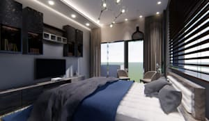MASTER BEDROOM:   by Manglam Decor