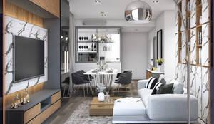 คอนโด The Line ราชเทวี: ทันสมัย  โดย BAANSOOK Design & Living Co., Ltd., โมเดิร์น