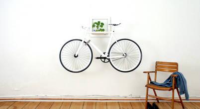 4 gợi ý làm giá treo xe đạp kết hợp tủ kệ nhỏ cực đơn giản
