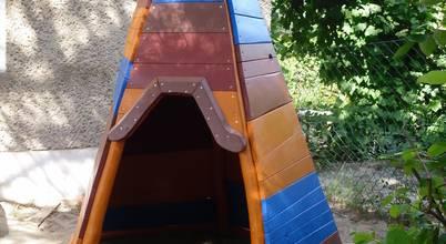 Houtwerken – Spielgeräte <q>Spielräume im traditionellen Holzbau</q>