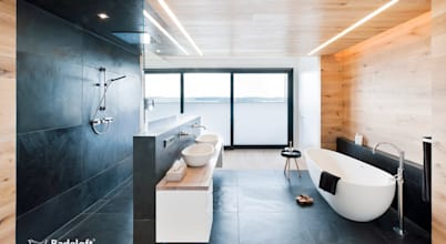 10 douches modernes réalisées en maçonnerie