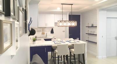 แบบครัวสีน้ำเงินให้ฟีลลิ่งแบบบ้านตากอากาศริมทะเลย่านบางเสร่