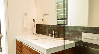 Casa de banho em mogno, bonita e moderna!