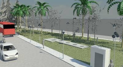 Desenho 3D de elevatória para comunidade em São José/SC