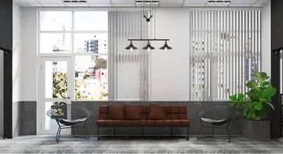Ấn tượng với nội thất văn phòng 3 tầng phong cách Công nghiệp