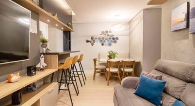 Projeto moderno, funcional e acolhedor de apartamento em São Paulo