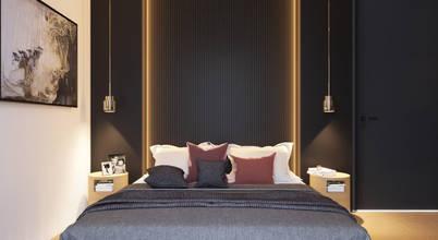 Ebeveyn banyosu ve giyinme odasıyla dört dörtlük bir yatak odası