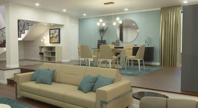 Projecto de decoração e mobiliário para moradia moderna e sofisticada