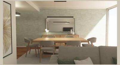 Projecto de sala moderna com um toque escandinavo