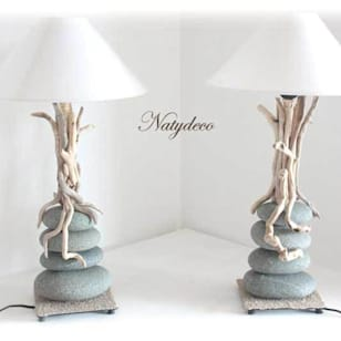 Lampe en galet bois flotte