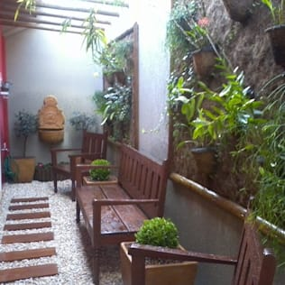 Interior landscaping by Borges Arquitetura & Paisagismo