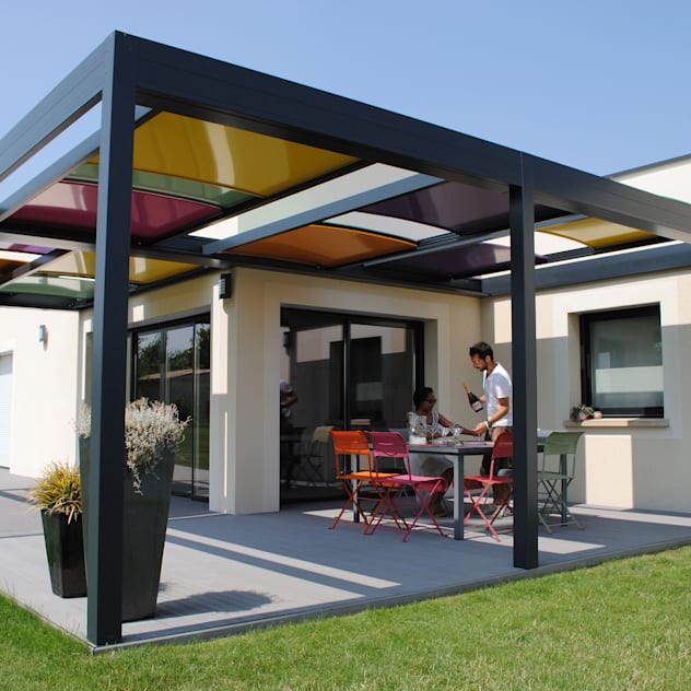modern pergola modellerine 10 farkl rnek milliyet emlak dergi. Black Bedroom Furniture Sets. Home Design Ideas