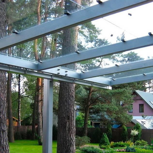 Aluminium-szkło: styl , w kategorii Balkon, weranda i taras zaprojektowany przez Glass Art
