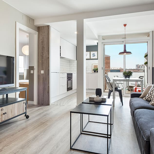 industrial Living room by Dröm Living