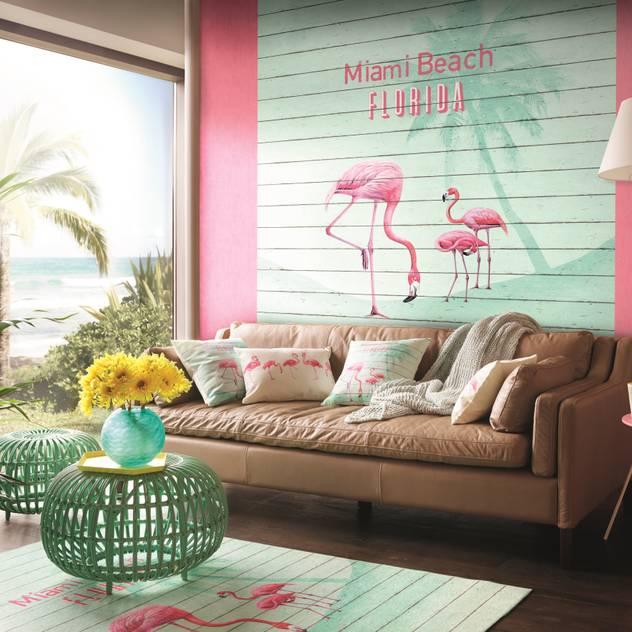 HannaHome Dekorasyon – Barbara Becker imzalı yepyeni bir koleksiyon: 'b.b. home passion V': tropikal tarz tarz Duvar & Zemin