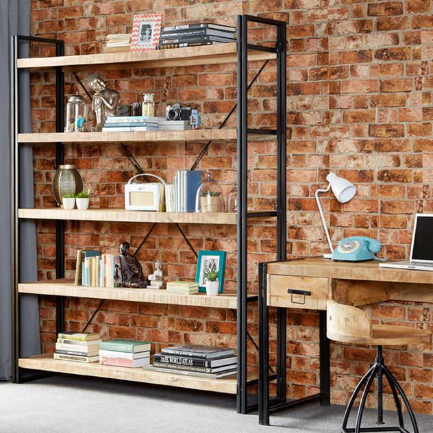 Cosmo Industrial Shelf Unit Industasia Living roomShelves