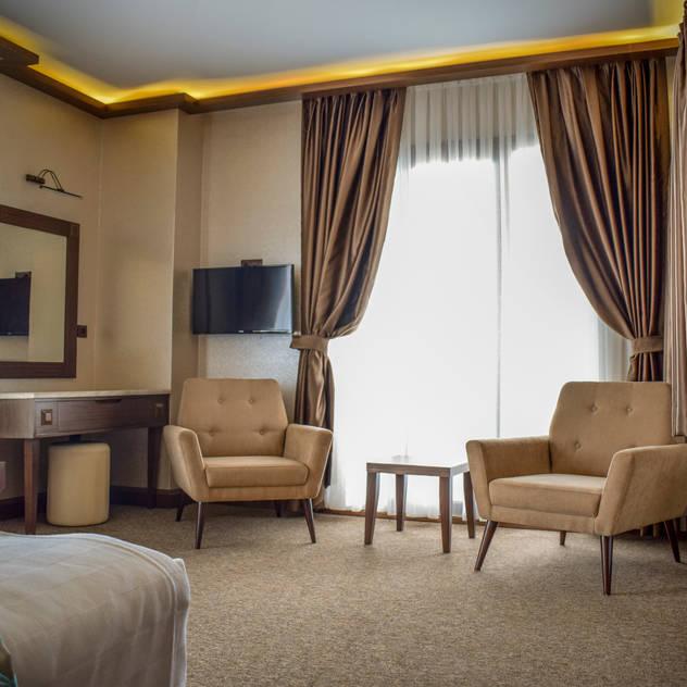 MY Ahşap ve Dekorasyon – Sera Lake Resort: rustik tarz tarz Yatak Odası
