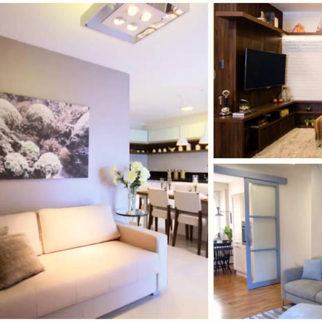 ideas para decorar salas peque as. Black Bedroom Furniture Sets. Home Design Ideas