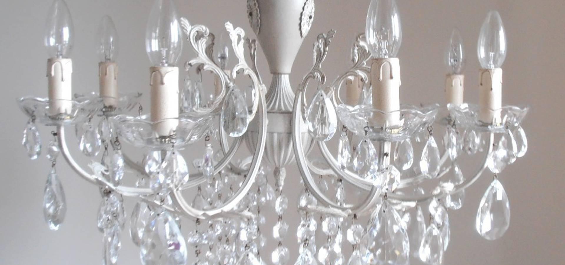 Esclusivo lampadario vintage 12 luci, nero e bronzo, cristalli gocce ...