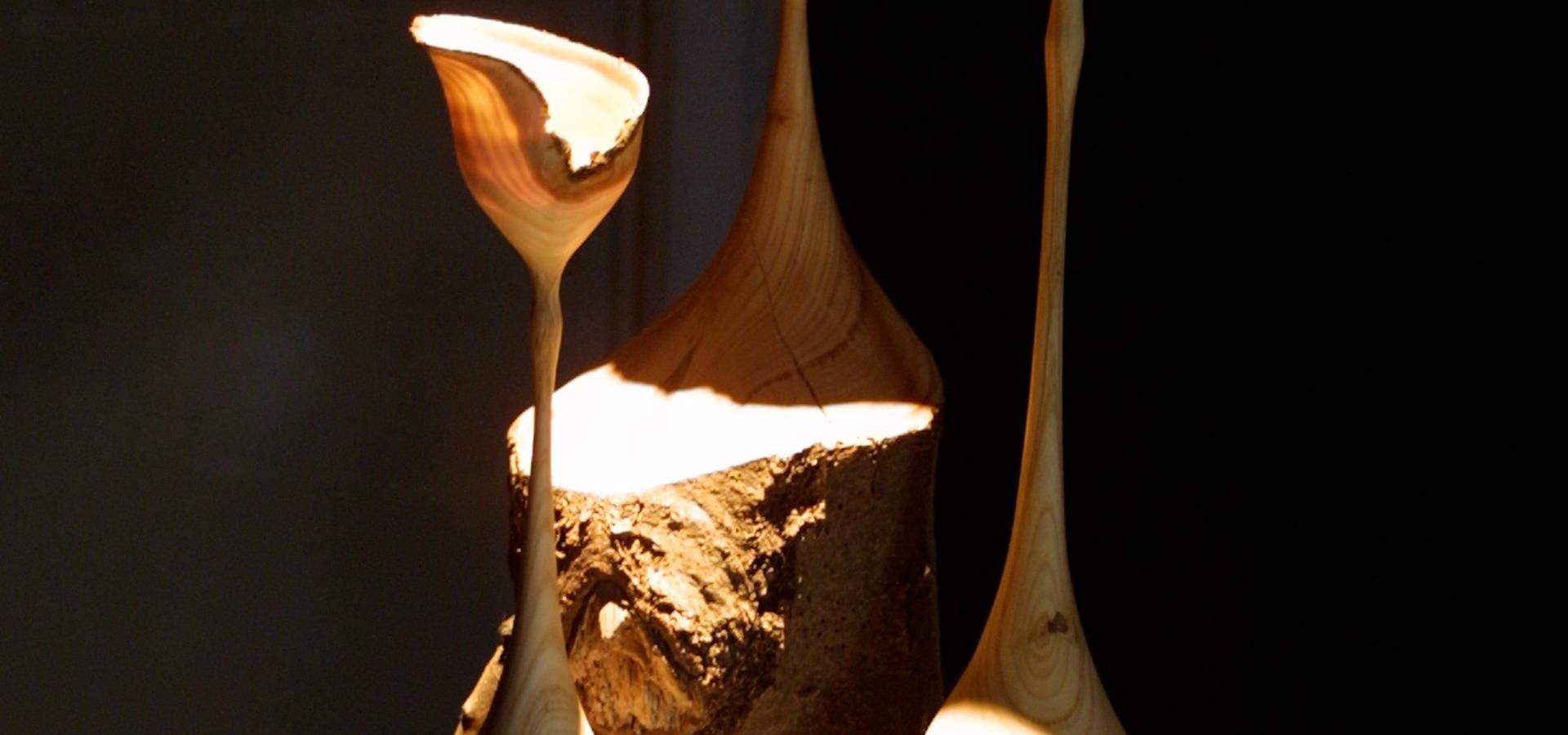 lichtobjekte aus holz by christian masche holz design skulptur homify. Black Bedroom Furniture Sets. Home Design Ideas