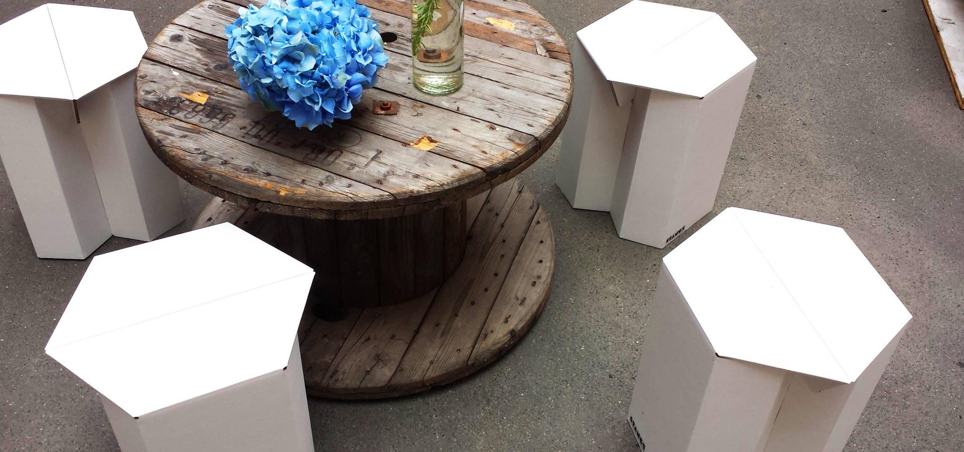 tische aus pappe von stange design homify. Black Bedroom Furniture Sets. Home Design Ideas