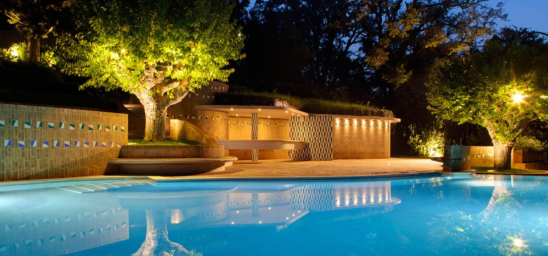 Cpiua ceccarelli associati la piscina del castello di for Piani del padiglione della piscina